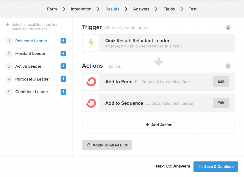 grow your email list using a quiz_email integration