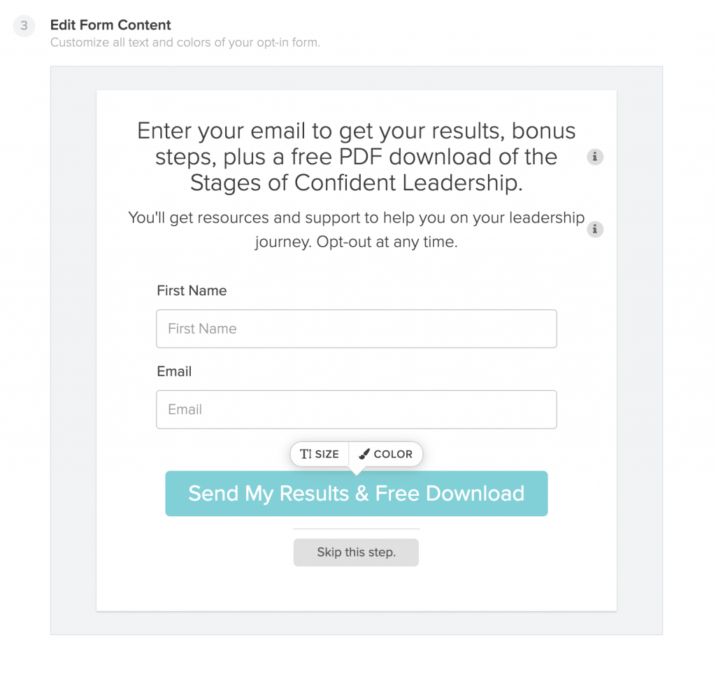 grow your email list using a quiz_email opt in